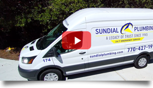 Sundial Truck Arriving for an Atlanta Plumbing Repair